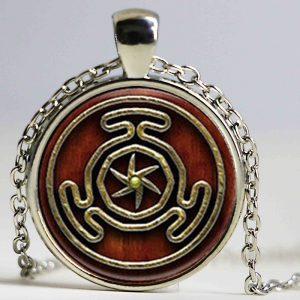 1pcs Wheel of Hecate Symbol jewelry Glass Cabochon Necklace