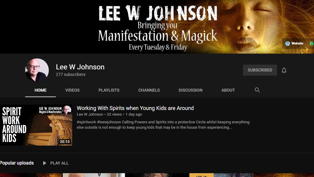 Lee W Johnson YouTube